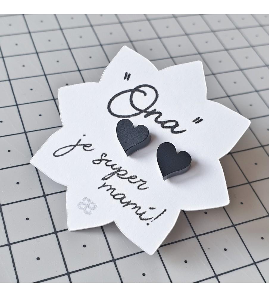 """Earrings """"Her"""" - Black hearts"""