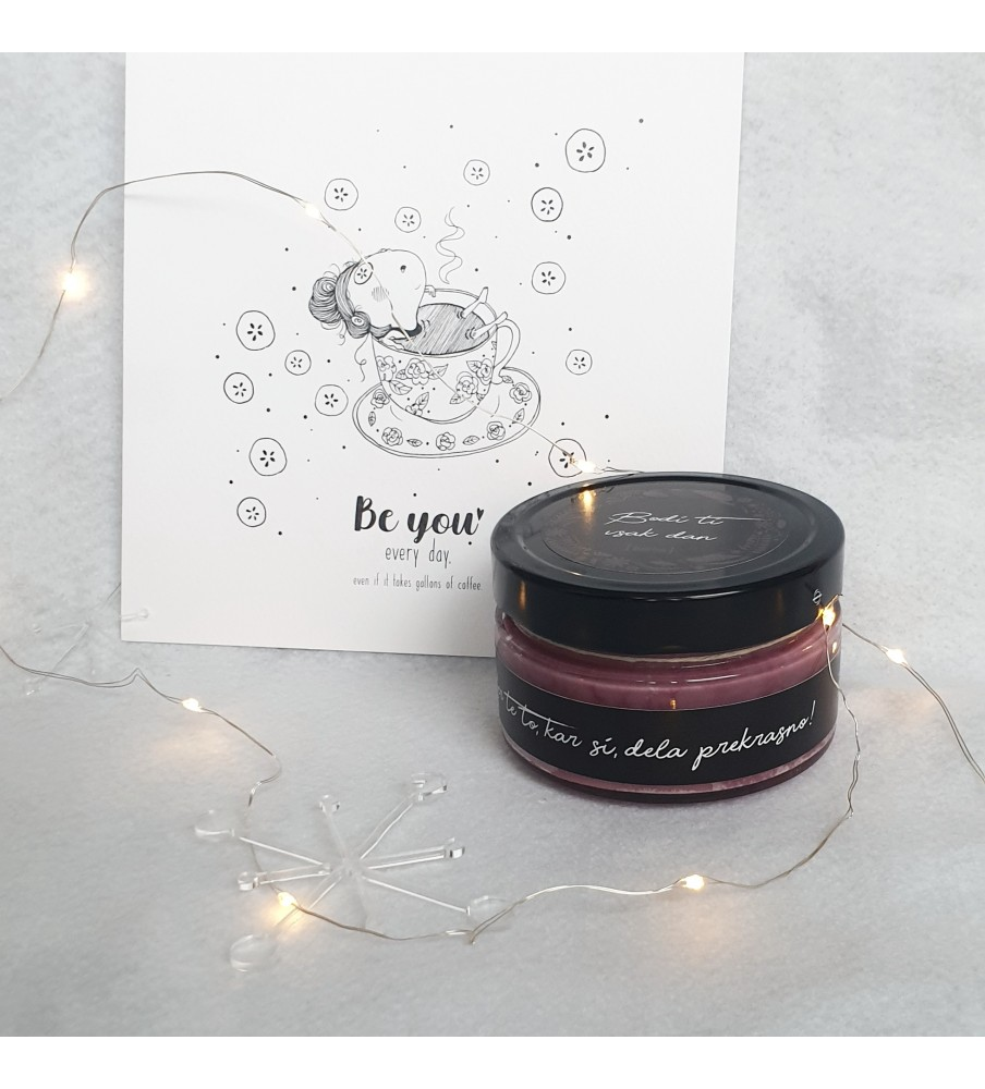 """Gift set """"Candle & Art print Be You"""""""