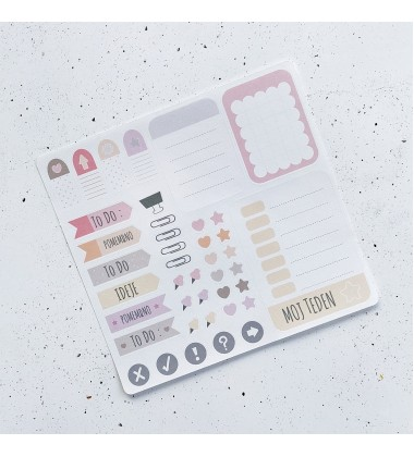 Funky stickers - Pink