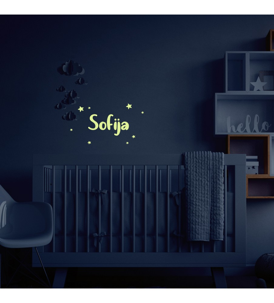 "Night wall sticker ""Name"""