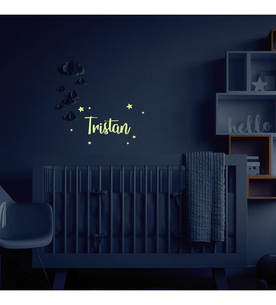 "Night wall sticker ""Name"""