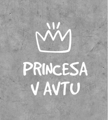 """Princess on board"" sticker"