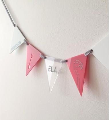Girls customised flag garland