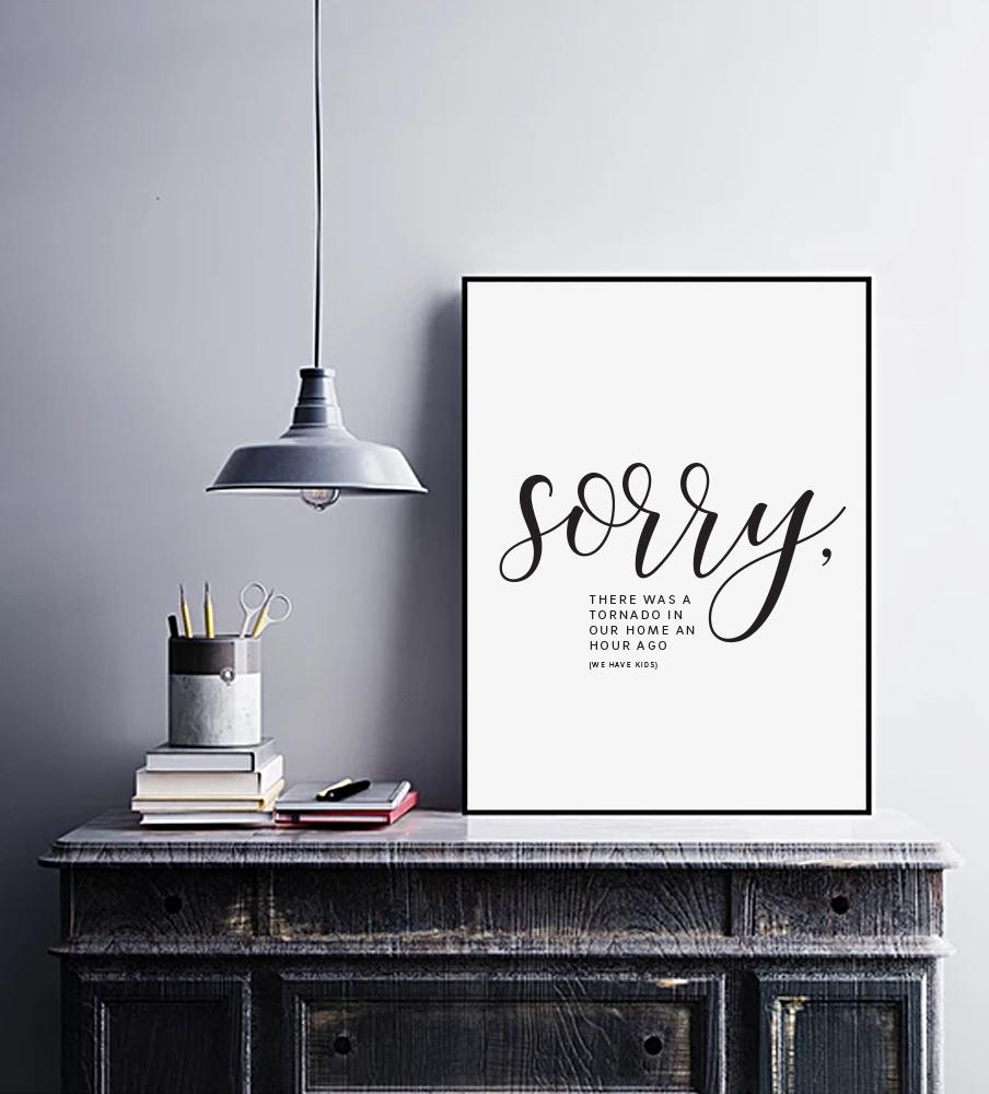 """Sorry"" print"