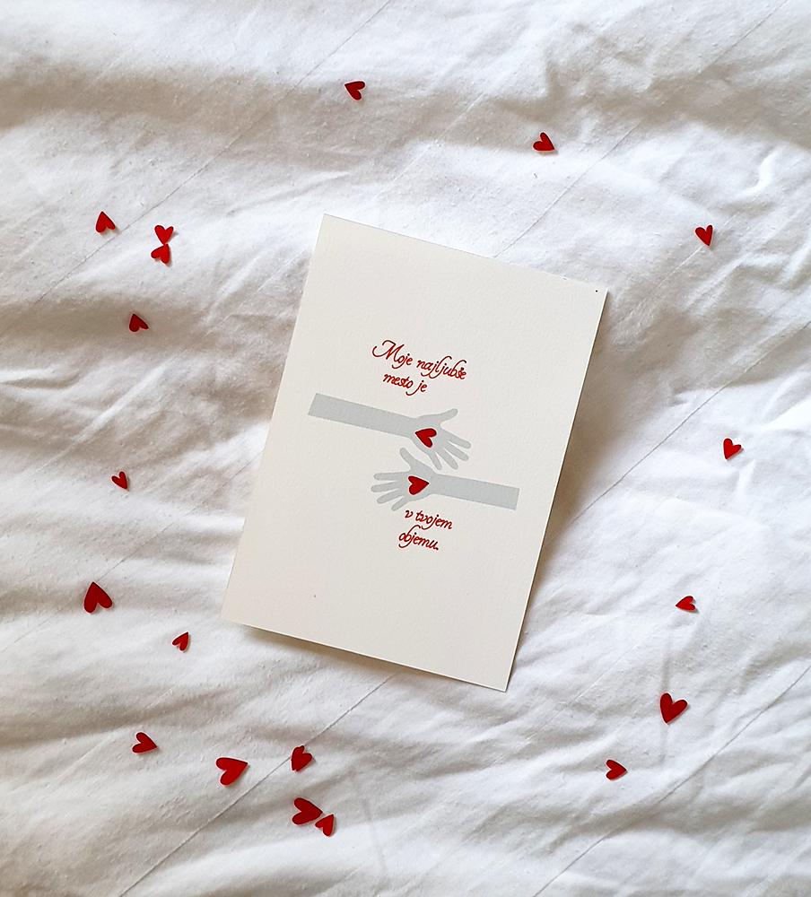 Valentine's card Hug