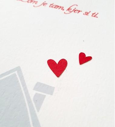 Valentine's card Home