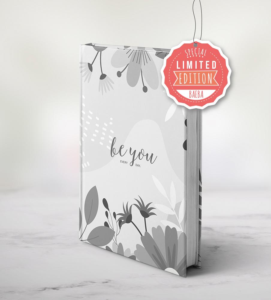 """LIMITED EDITION"" - PRESALE - Baeba planner - Grey Flower"