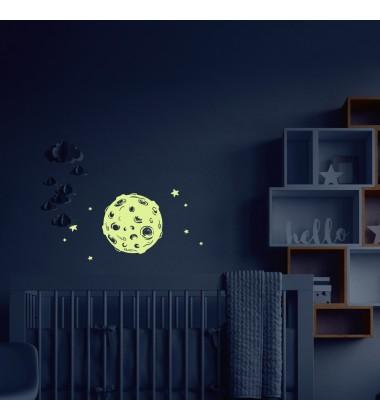 "Night wall sticker ""Moon"""