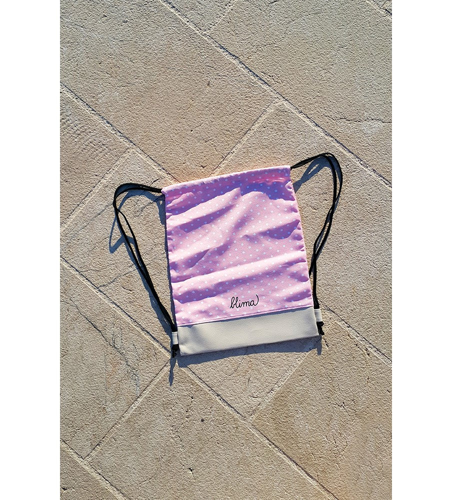 """Backpack """"Luck on the string"""" - Pink"""